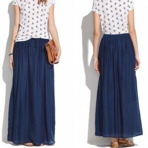 [Madewell] maxi skirt navy M